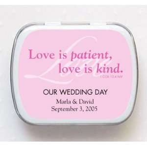 Love is Patient, Love is Kind Personalized Mint Tins