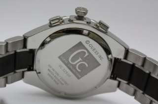 New Gc Guess Swiss Men Chronograph Steel Date Dress Watch 43mm 33503G1