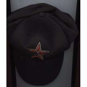 2001 Houston Astros Game Used Hat #18 Moises Alou   MLB Hats