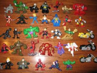 MARVEL SUPER HERO SQUAD DC SUPER FRIENDS MINI ACTION FIGURES 34 PIECES