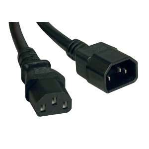 320 C13 to IEC 320 C14 Heavy Duty 14AWG Power Cord   2 ft Electronics