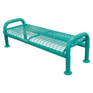 U Leg Wire Commercial Grade Bench without Back, Yellow