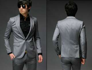 New Mens Fashion Stylish Slim Fit One Button Suit XZ04