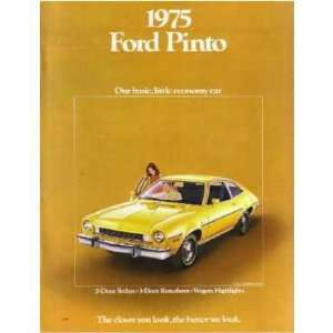 1975 FORD PINTO Sales Brochure Literature Book Piece Automotive