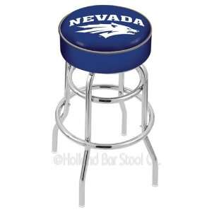 Nevada Wolf Pack Logo Chrome Double Ring Swivel Bar Stool Base with 4