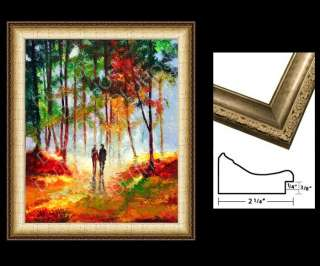 WALK TREES Original MODERN ART Knife Oil Paintings YARY DLUHOS