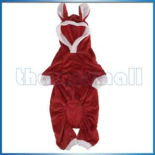 Plush Hooded Hoodie Rabbit Coat Clothes Pet Puppy Dog
