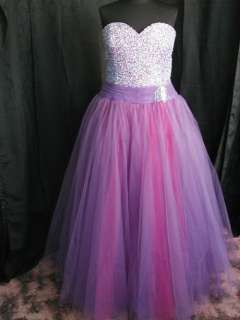 PURPLE TULLE Prom Quince Pageant gown dress s 22 Cinderella Princess