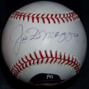 Joe DiMaggio Signed Autographed Hand Painted Baseball