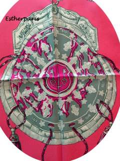 LOVELY HOT PINK LES CLEFS BRAND NEW HERMES SCARF