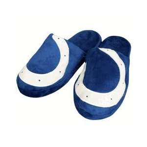 Indianapolis Colts Big Logo Hard Sole Slippers Plush Slide