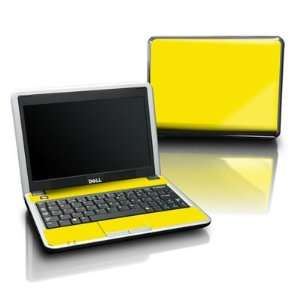 Solid State Yellow Design Protective Skin Decal Sticker for DELL Mini