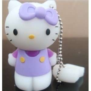 4GB Cute Purple Hello Kitty with Bow Style USB flash drive