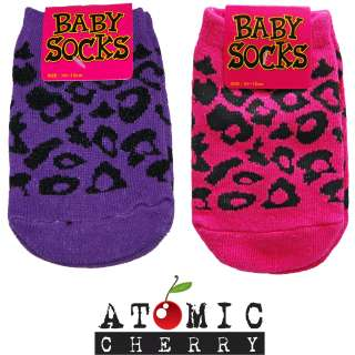 Leopard Print Baby Socks Rockabilly Cute Kids Gift New