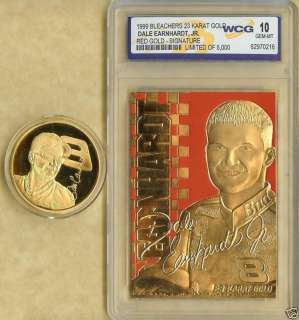 1999 DALE EARNHARDT JR 23 KT GOLD CARD & COIN