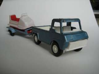 TootsieToy Pick Up Truck, Trailer and Sno Cat Snowmobile Tootsie Toy