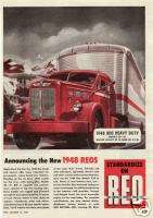 1948 Red Reo Model 30 31 Tractor Trailer Truck Ad.