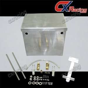 CXRacing Polished Aluminum Relocation Battery Box Kit
