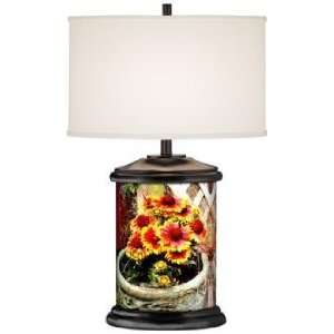 Flowerpot Giclee Art Base Table Lamp