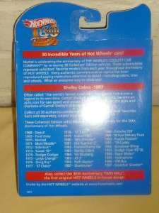 Hot Wheels 1983 Shelby Cobra 30th Anniverary Replica NIP