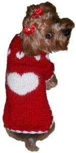 Dog Clothes Hand Knit Puppy Love Sweater Dallas Dog
