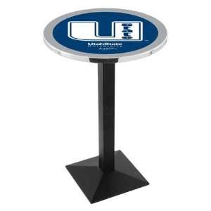 42 Utah State Bar Height Pub Table   Square Base Sports