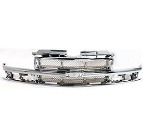 Grille Assembly New Chrome Chevy S10 Pickup Chevrolet Blazer 99 98