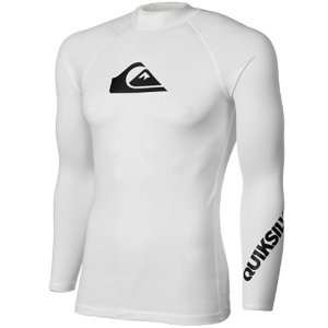 Quiksilver All Time Long Sleeve Rashguard   White  Sports