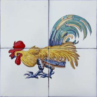 Portuguese Hand Painted Tiles Mural TRADITIONAL ROOSTER