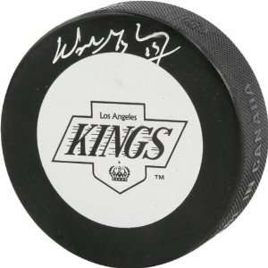 Wayne Gretzky Autographed Los Angeles Kings Logo Puck
