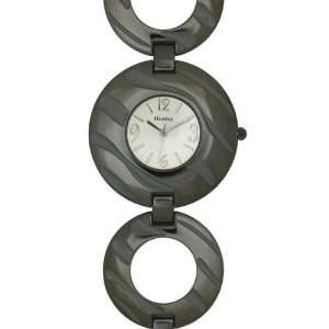Henley Glamour Ladies Gun Metal Zebra Watch Electronics