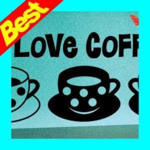 Dot Pattern Coffee Cup Vinyl Wall Decals Home Decor