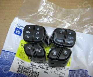 Chevy GMC Silverado SUV Steering Wheel Switch Buttons OEM (C3,80,1,2