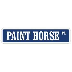 PAINT HORSE Street Sign horses farmer farm american Patio