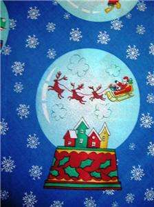 New Water Globes Snow Fabric BTY Christmas Santa Tree