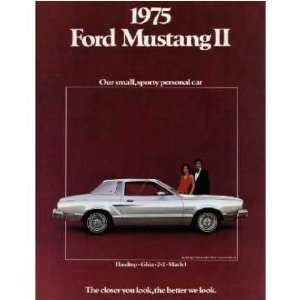 1975 FORD MUSTANG Sales Brochure Literature Book Piece