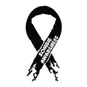 Zombie Awareness Ribbon funny Vinyl Die Cut Decal Sticker