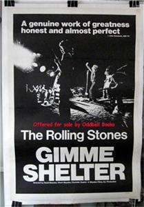 Gimme Shelter Rolling Stones Original 1970 movie poster