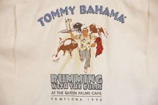 TOMMY BAHAMA Embroidered Shirt New L Rumming With Bulls
