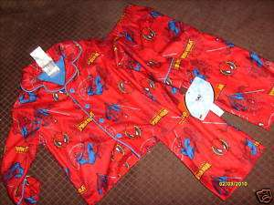 NWT NEW BOYS SPIDERMAN SUPER HERO FLEECE WINTER PAJAMAS SET SZ 2T