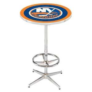 36 New York Islanders Counter Height Pub Table   Chrome