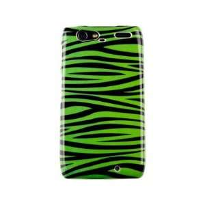 Hard Plastic Phone Protector Cover Case Green and Black Zebra Design