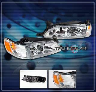 93 97 TOYOTA COROLLA DX HEAD LIGHTS+CORNER TURN SIGNAL LAMP JDM CHROME
