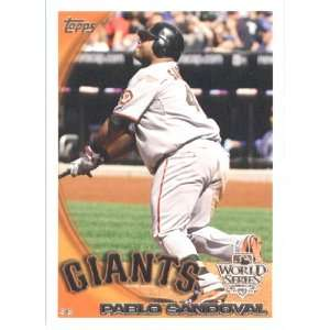 2010 Topps Pablo Sandoval   San Francisco Giants   Limited