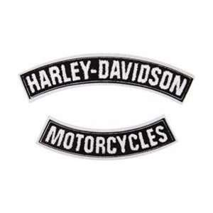 Harley Davidson Motorcycles Back Patch Rockers Set for Jacket Vest New
