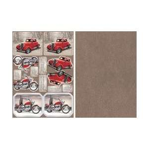 Out Card 2 Sheet Pack   Hot Wheel Classics Red Arts, Crafts & Sewing