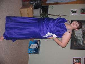 PLUS SIZE MASQUERADE BALL GOWN PROM DRESS PURPLE 16,24