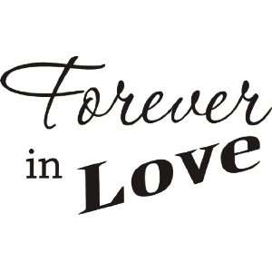 Forever in Love wall decal removable sticker quote