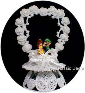 LUIG Nintendo Super Mario Video Wedding Cake Topper top