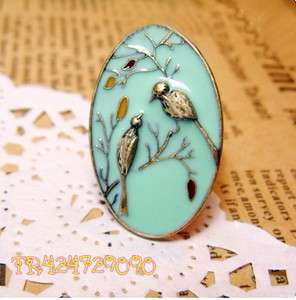 Antiqued Bronze Fashion Concinnity Lucky Bird Adjustable Ring H047